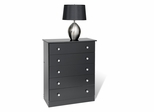 5 Drawer Chest in Black - Prepac Furniture - BBD-3038-5