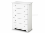 5-Drawer Chest in Pure White - Vito - South Shore Furniture - 3150035