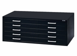 5-Drawer File for 30 Inch x 42 Inch Sheets in Black - Mayline Office Furniture - 7868CS5
