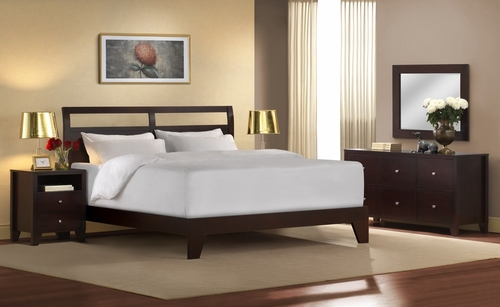 5-Piece Bedroom Furniture Set with Cal King Size Bed - Dominique - Lifestyle Solutions - DMQ-5PCK-CP-SET