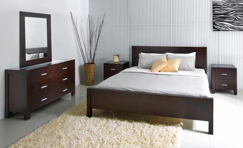 5-Piece Bedroom Furniture Set with King Size Bed - Hamptons - Abbyson Living - HM-5000-KG5