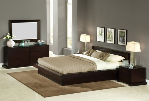 5-Piece Bedroom Furniture Set with King Size Bed - Zurich - Lifestyle Solutions - ZUR-5PEK-CP-SET
