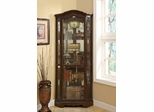 5 Shelf Corner Curio Cabinet with Shaped Crown - 950175