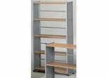 5-Shelf Organizational Unit in Medium Cherry/Metallic Gray - Mayline Office Furniture - 995MEC