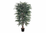 5' Weeping Ficus Silk Tree in Green - Nearly Natural - 5018