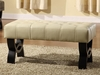 """5012 Central Park 36"""" Tufted Ottoman in Cream Leather - Armen Living - LC5012BEBCCR36"""