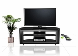 "55"" Flat Panel Plasma LCD HD TV Stand / Media Console Center in Glossy Black - TVS-648400-2"