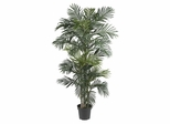 6.5' Golden Cane Palm Silk Tree in Green - Nearly Natural - 5289