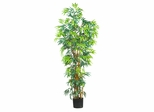 6' Curved Bamboo Silk Tree in Green - Nearly Natural - 5188