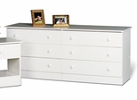 6 Drawer Dresser in White - Prepac Furniture - WHD-5828