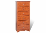 6 Drawer Lingerie Chest in Cherry - Monterey Collection - Prepac Furniture - CDC-2354