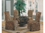 6-Piece Dining Set in Terracotta / Green Floral - Coaster