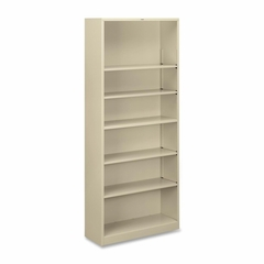 6 Shelf Metal Bookcase - Putty - HONS82ABCL