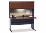 """60"""" Desk and Hutch Set - Series A Hansen Cherry Collection - Bush Office Furniture - WC90460A-61"""