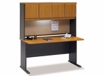 """60"""" Desk and Hutch Set - Series A Natural Cherry Collection - Bush Office Furniture - WC57460-61"""