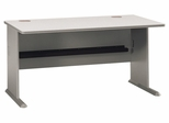 """60"""" Desk - Series A Pewter Collection - Bush Office Furniture - WC14560"""