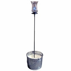 """60"""" Garden Stake with Champagne Torch - Pangaea Home and Garden Furniture - DS-C4458-SET1"""