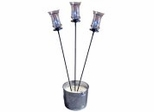 """60"""" Garden Stake with Champagne Torch (Set of 3) - Pangaea Home and Garden Furniture - DS-C4458-SET3"""