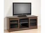 60 Inch Flat Panel LCD / Plasma TV Console with 2 Glass Doors in Espresso - Francesca - Prepac Furniture - EFG-5924