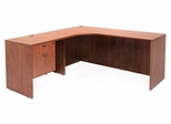 "66"" Corner Credenza ""L"" Shaped desk with 1 Box File Ped - ROF-LLDCL6624"