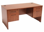"""66"""" Desk with (2) BF Peds - ROF-SDP6630"""