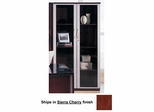 68 Inch Wall Cabinet with Glass Doors in Sierra Cherry - Mayline Office Furniture - VCGCRY