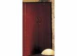 68 Inch Wall Cabinet with Wood Doors in Sierra Cherry - Mayline Office Furniture - VCWCRY