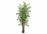 7' Bamboo Palm Silk Tree in Green - Nearly Natural - 5250