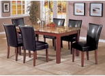 7-Piece Dining Set in Cherry / Black - Coaster