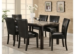 7-Piece Dining Set in Deep Cappuccino / Black - Coaster - 102260-2-DSET