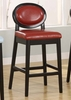 """7015 Martini 26"""" Stationary Barstool in Red Leather / Black - Armen Living - LC7015BARE26"""