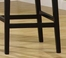 """7015 Martini 30"""" Stationary Barstool in Creme Leather / Black - Armen Living - LC7015BACR30"""