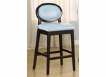 "7015 Martini 30"" Stationary Barstool in Sky Blue Leather / Black - Armen Living - LC7015BASB30"