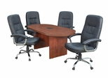 """71"""" Legacy Conference Table with 4 Carrera 1040 Swivel Chairs - ROF-LCTRT71351040BK"""
