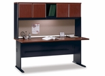 """72"""" Desk and Hutch Set - Series A Hansen Cherry Collection - Bush Office Furniture - WC94472-73"""