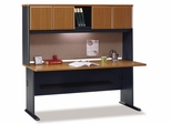 """72"""" Desk and Hutch Set - Series A Natural Cherry Collection - Bush Office Furniture - WC57472-73"""