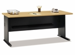 """72"""" Desk - Series A Beech Collection - Bush Office Furniture - WC14372"""