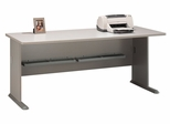 """72"""" Desk - Series A Pewter Collection - Bush Office Furniture - WC14572"""