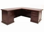 """72"""" Desk with 48"""" Return and BBF/FF Peds - ROF-TVLD7236-MH"""