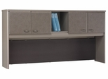 """72"""" Hutch - Series A Pewter Collection - Bush Office Furniture - WC14573"""