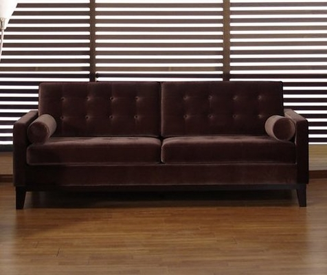 725 Centennial Sofa in Brown Velvet - Armen Living - LC7253BR