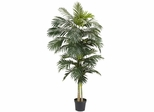 8' Golden Cane Palm Silk Tree - Nearly Natural - 5326