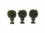 """9"""" Cedar Ball Topiary (Set of 3) - Nearly Natural - 4761"""