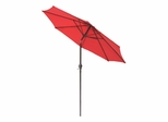 9' Market Umbrella with Steel Pole in Autumn Red / Brown - 53719