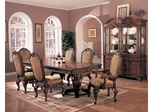 9-Piece Dining Room Furniture Set in Antique Brown - Coaster