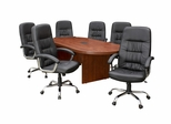 """95"""" Legacy Conference Tablewith 6 Carrera 1040 Swivel Chairs - ROF-LCTRT95431040BK"""
