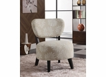 Accent Chair with Padded Seat in Beige - 900391
