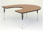 "Activity Table in Medium Oak - Horseshoe 60"" x 66"" - Correll Office Furniture - A6066-HOR"