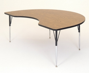 """Activity Table in Medium Oak - Kidney Shaped 48"""" x 72"""" - Correll Office Furniture - A4872-KID"""