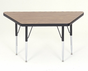 """Activity Table in Medium Oak - Trapezoid 30"""" x 30"""" x 60"""" - Correll Office Furniture - A3060-TRP"""